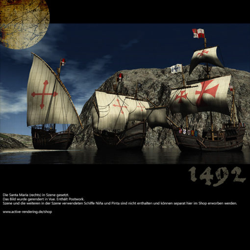 Santa Maria - Kolumbus Flaggschiff - Columbus Flag Ship - 3D Model