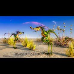 Dragon Hopper 3D-Modell Szene