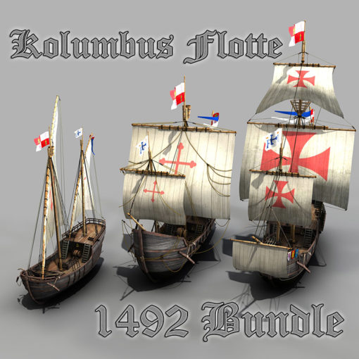 Flotte des Kolumbus - Fleet Columbus - 3D Model