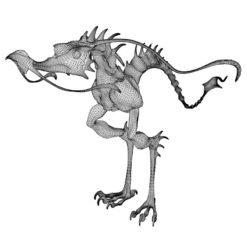 Dragon Hopper 3D-Modell Drahtgitter