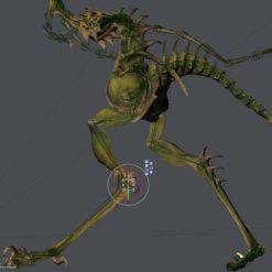 Dragon Hopper 3D-Modell rigging in Vue
