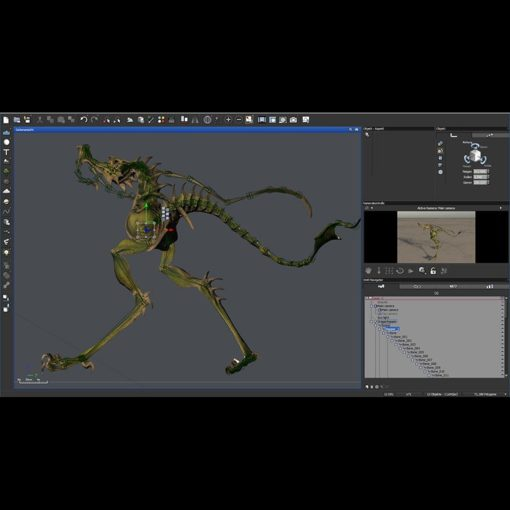 Dragon Hopper 3D-Modell in Vue