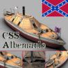 Kanonenboot CSS Albemarle Panzerschiff 3D Model