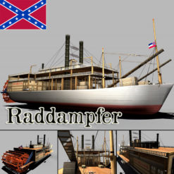 Mississippi Raddampfer 3D Model