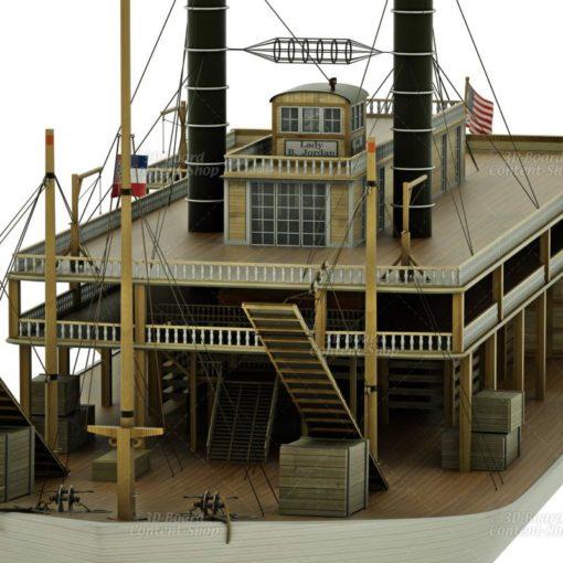 Mississippi Raddampfer 3D Model
