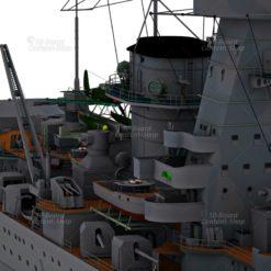 Panzerschiff Admiral Graf Spee Kriegsmarine 3D Model