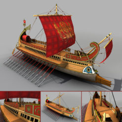 Römische Galeere 3D Model