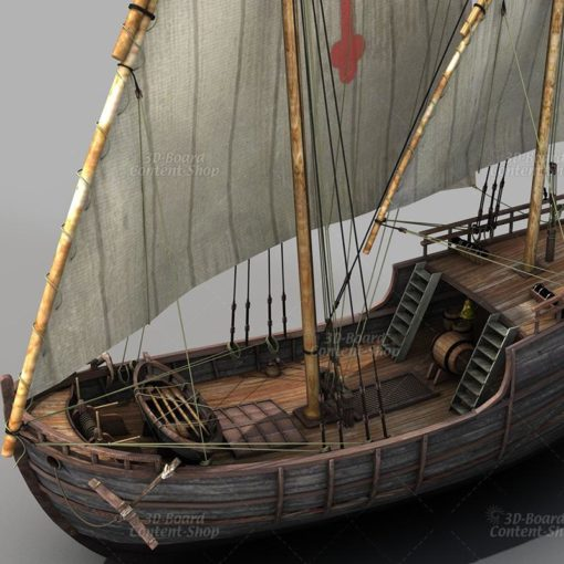 Niña - Kolumbus Schiff - Columbus Ship - 3D Model