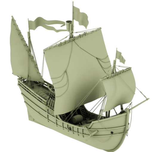 Pinta - Kolumbus Schiff - Columbus Ship - 3D Model