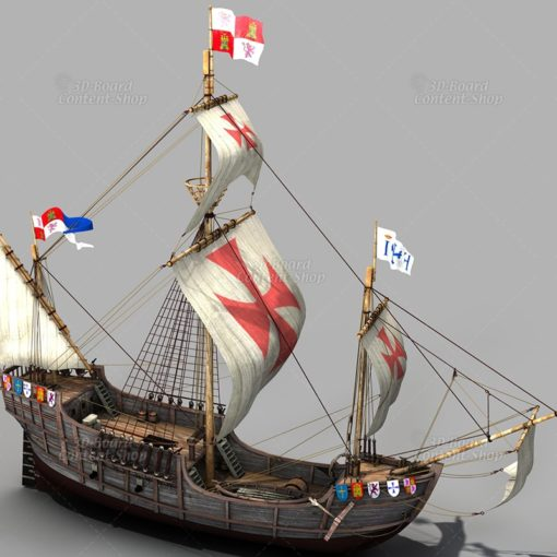 Santa Maria - Kolumbus Flaggschiff - Columbus Flag Ship - 3D Model