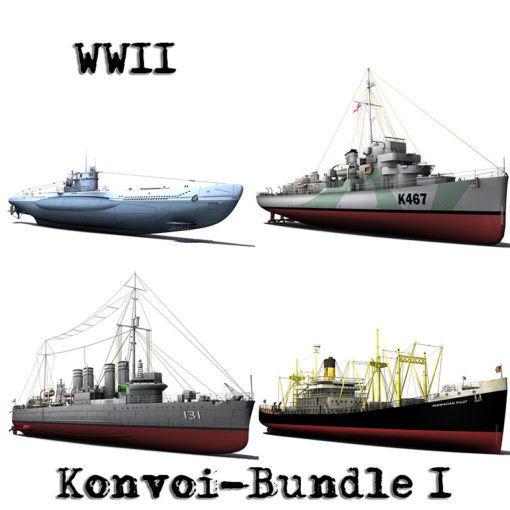 WW2 Konvoi 3D Model